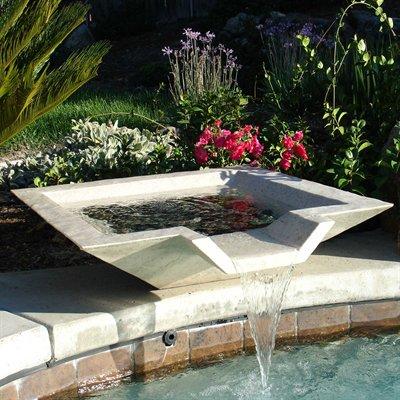 Casas minimalistas y modernas fuentes minimalistas de cscp - Fuentes para piscinas ...