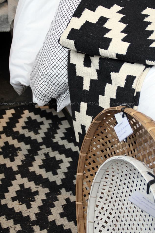 Riverdale Deko schwarz weiß Holz auf der Messe Amsterdam 2015 Woonbeurs