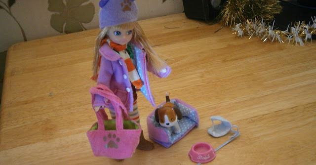 Lottie and Biscuit the beagle fashion doll set based on real girl body size