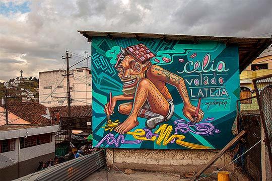 Arte urbano colorido y divertido de Apitatán