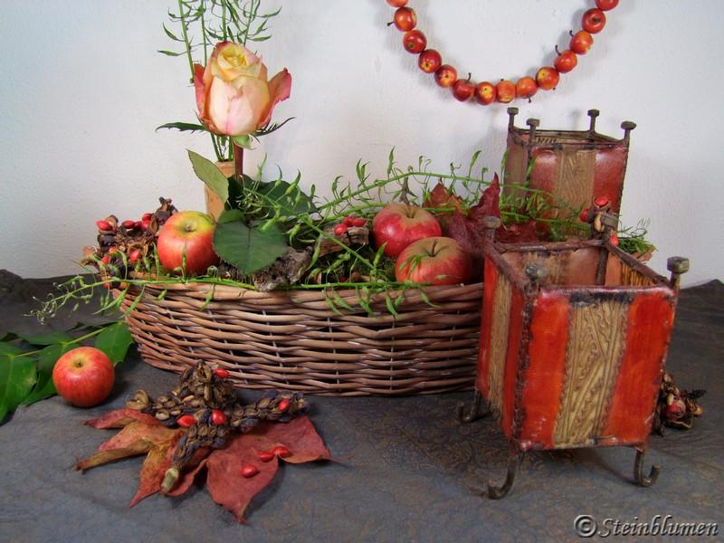 Letzte Tischdeko im Herbst
