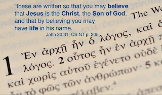 So that you might believe. . .