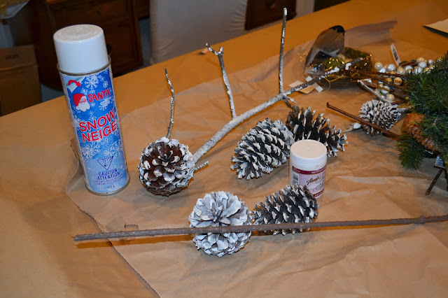 faux-snow-tutorial-pinecones-branches