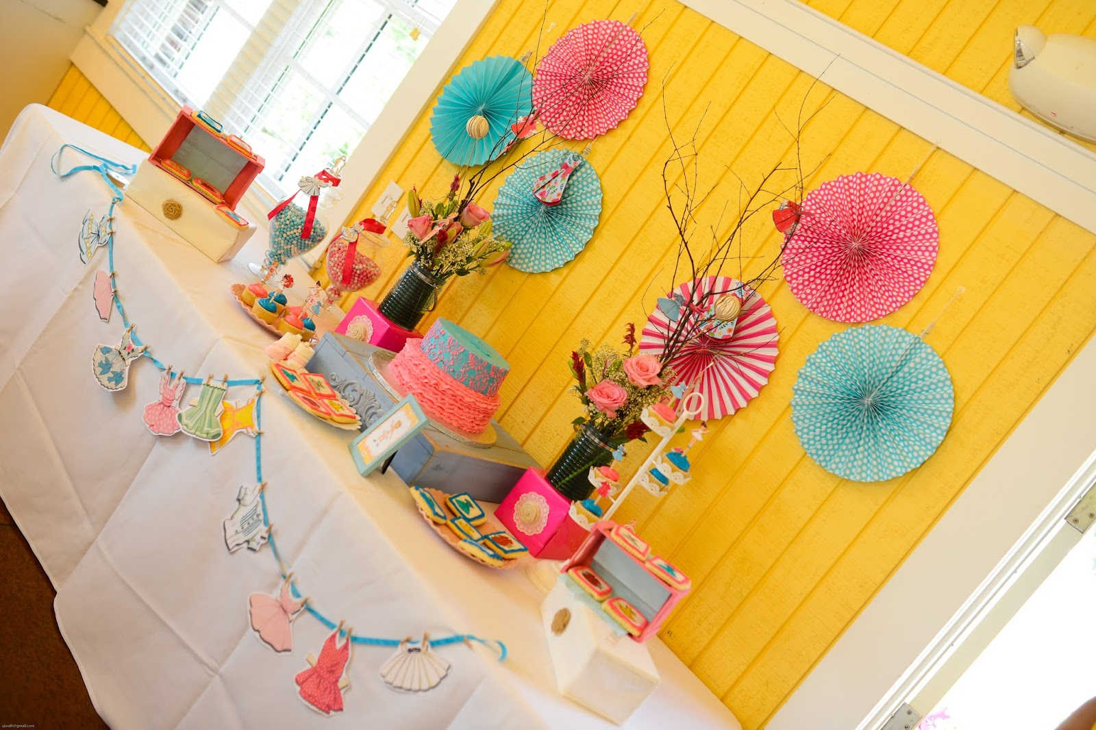 Aalayam   Colors, Cuisines And Cultures Inspired!: Shabby Chic Paper Doll Baby  Shower