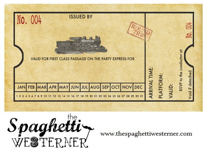 Printable Train Ticket Invitations Template