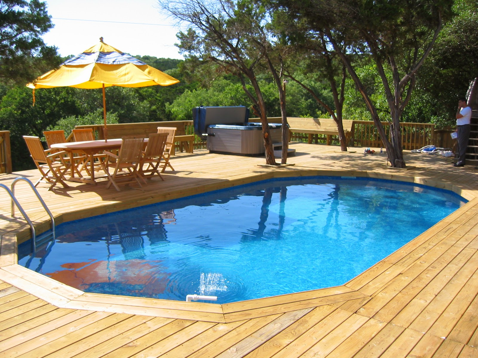 Amazing Modern Pool Deck Design For Swimming Pool Design Ideas Images  Gallery