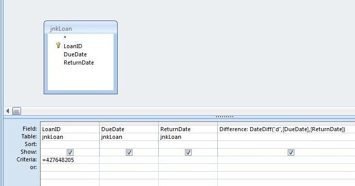 ... need to make a query that will compare the dates with the same 'ID_2