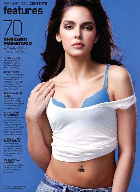 Shazahn Padamsee SMOKIN on Maxim India Feb 2011