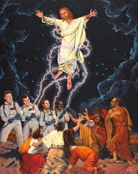 Funny Ghost Busters Jesus Joke Painting