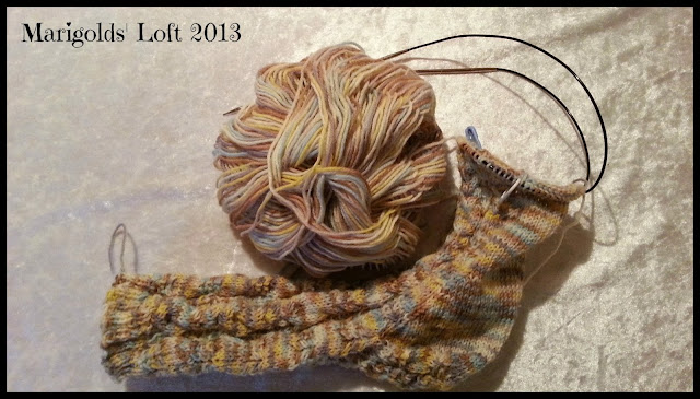 sock knitting KAL