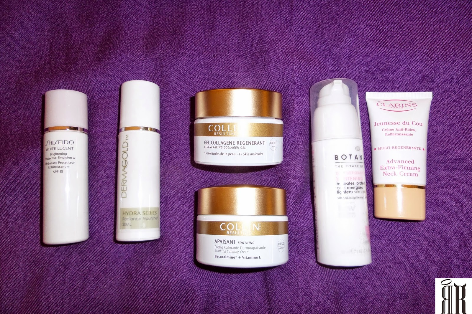 Shiseido Dermagold Collin Resultime Clarins Botanics