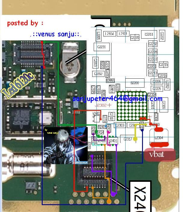 Nokia 1616 LCD Light Solution