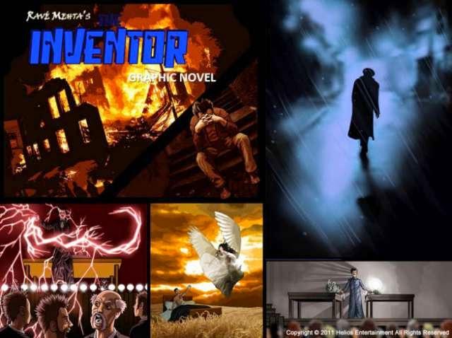 """novela gráfica """"THE INVENTOR"""" basada en la verdadera historia del gran inventor Nikola Tesla"""