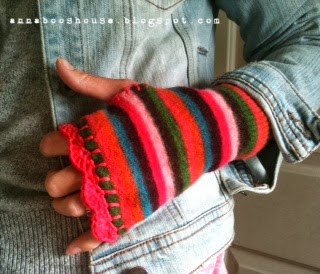 Upcycled Wristwarmers