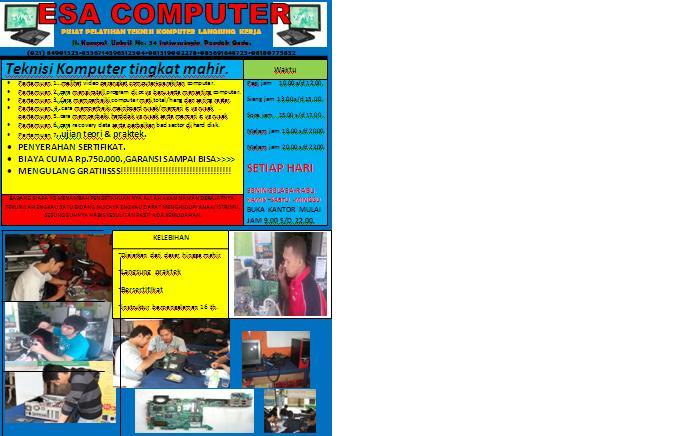 Kursus Komputer tingkat Mahir