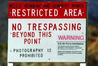 Area 51 no tresspassing Sign board