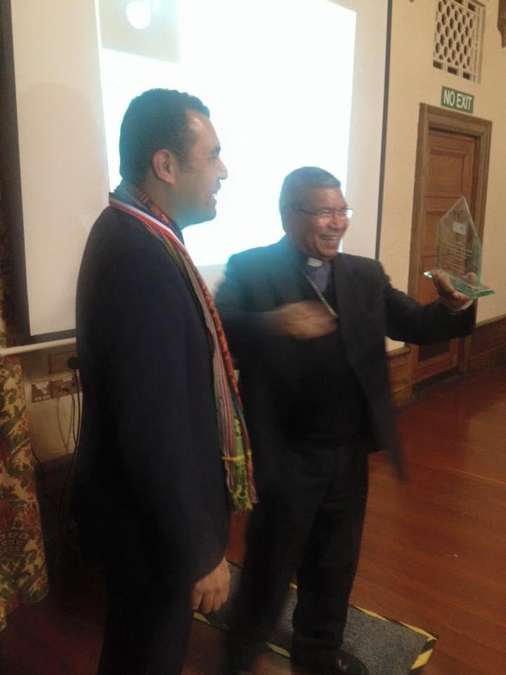 The East Timorese Nobel Peace Prize 96 Bishop Carlos F.X Belo visited the ET community in P'boro