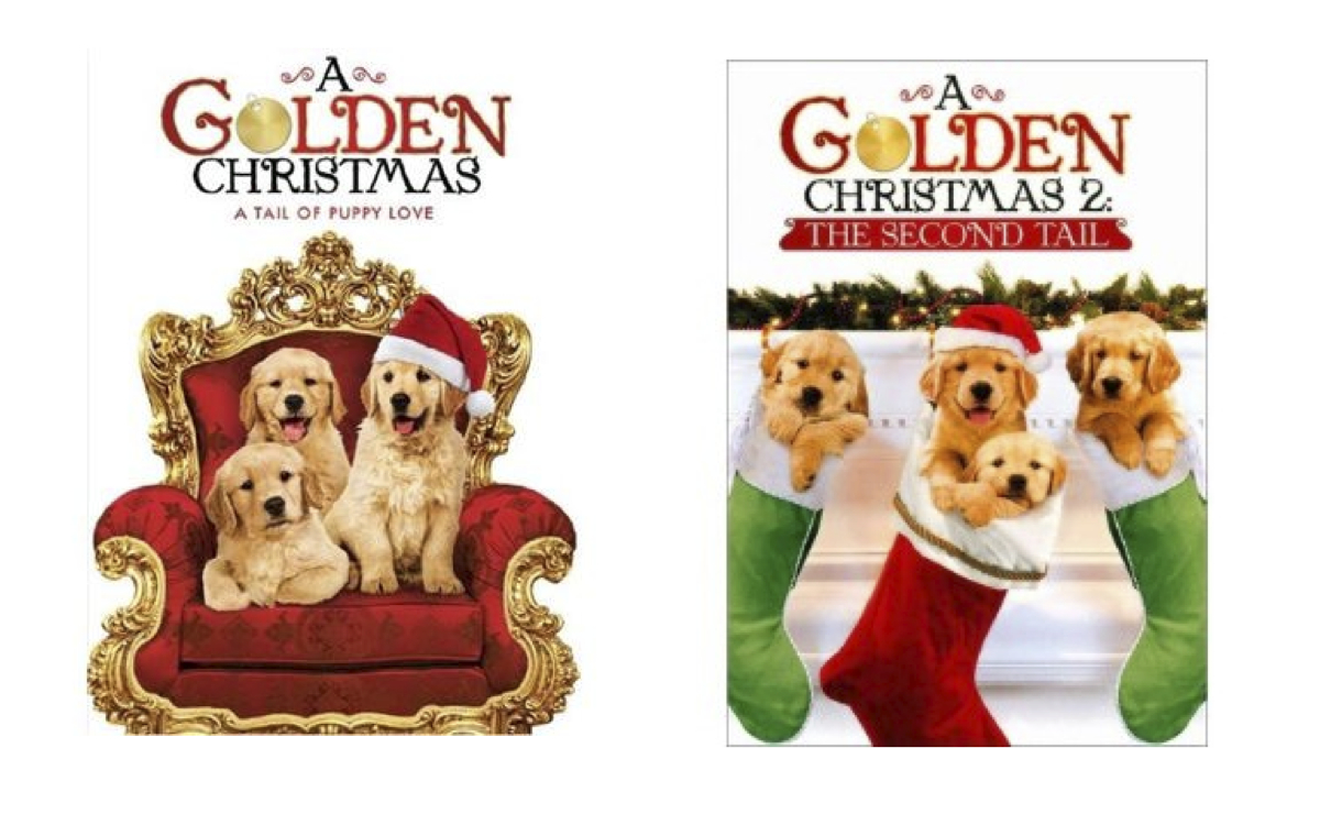 7 puppies on the cover none inside - A Golden Christmas 2