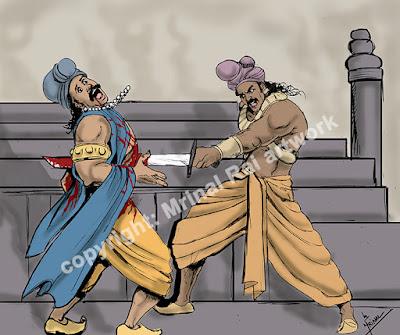 Pushyamitra Shunga killing Brihadratha