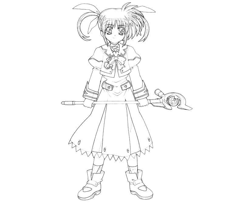 printable-nanoha-takamichi-character-coloring-pages