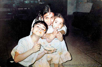 cricketer virat kohli mini biography and childhood pictures