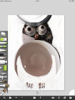 Step 3: Tasse, Spritzkappe, Farbe, bauch