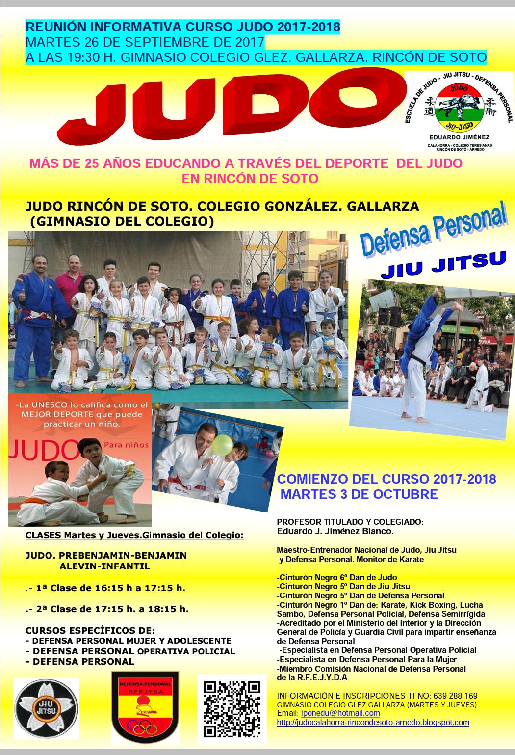 Reunión informativa Judo RINCON DE SOTO.curso 2017-2018