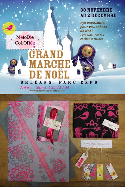 marche noel orleans, melodie coloree