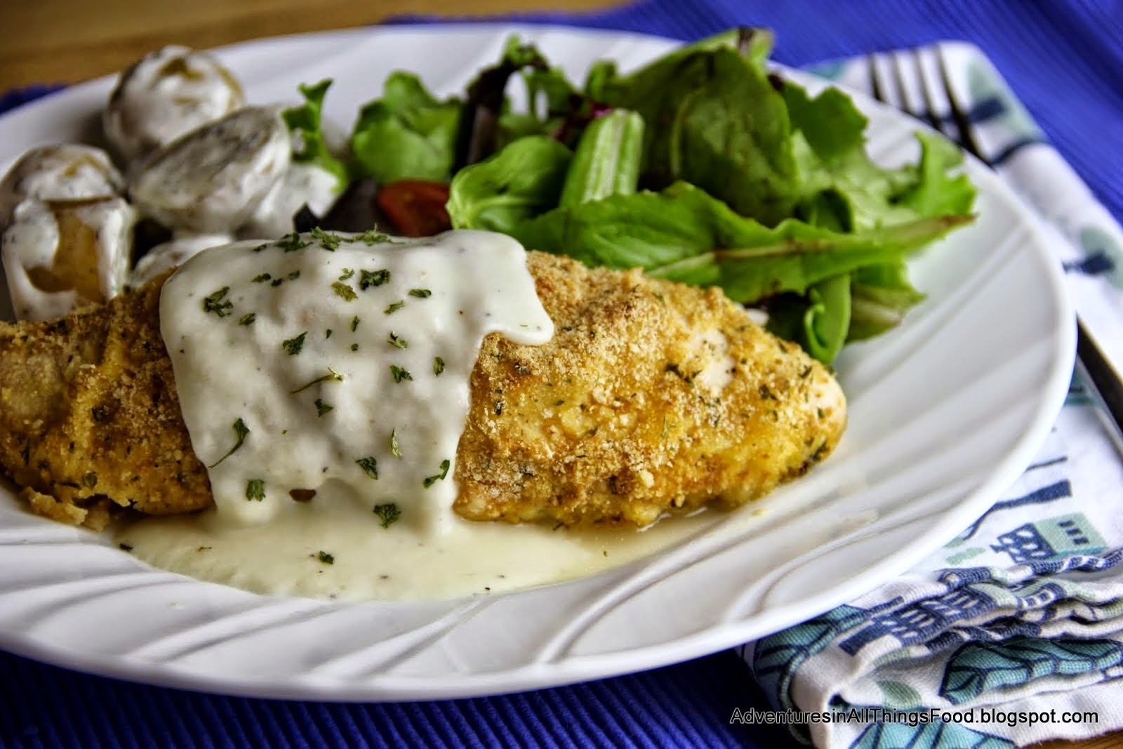 Featured Recipe: Chicken Cordon Bleu and Creamy Dill New Potatoes from Adventures in All Things Food #SecretRecipeClub #maindish #sidedish #recipe #chicken