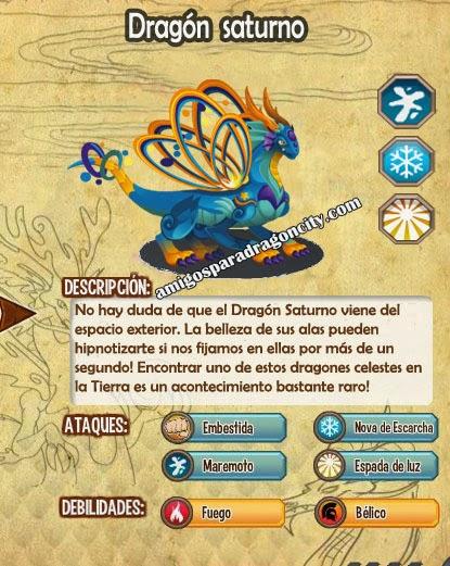 imagen de las caracteristicas del dragon saturno