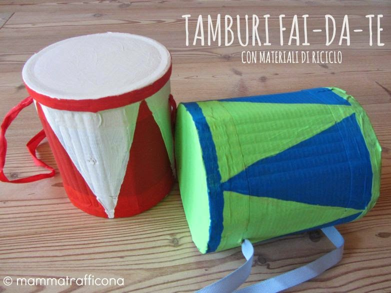 DIY cardboard drums