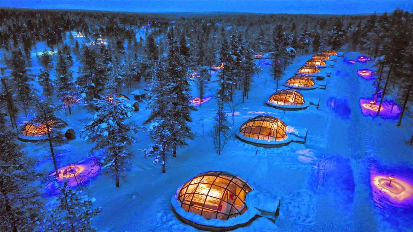 Image result for Hotel Kakslauttanen, Finlandia