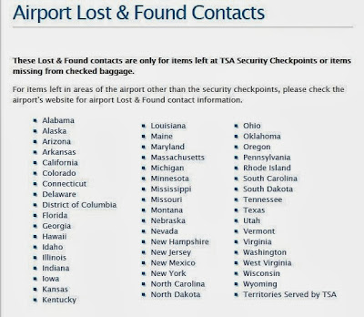 http://www.tsa.gov/traveler-information/airport-lost-found-contacts