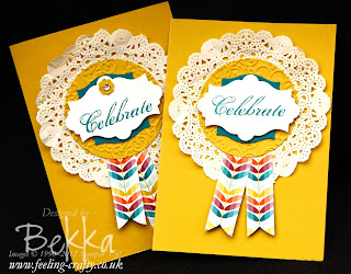 Feeling Sentimental Birthday Rosette Cards by Stampin' Up! Demonstrator Bekka Prideaux