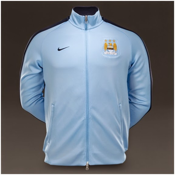 Nike N98 Man City FC Authentic Track Jacket FA - Field Blue Obsidian