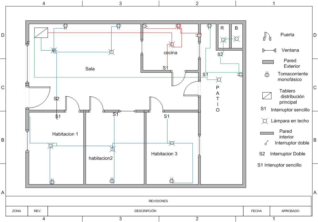 Automatizacion industrial instalacion monofasica for Programa para hacer planos sencillos