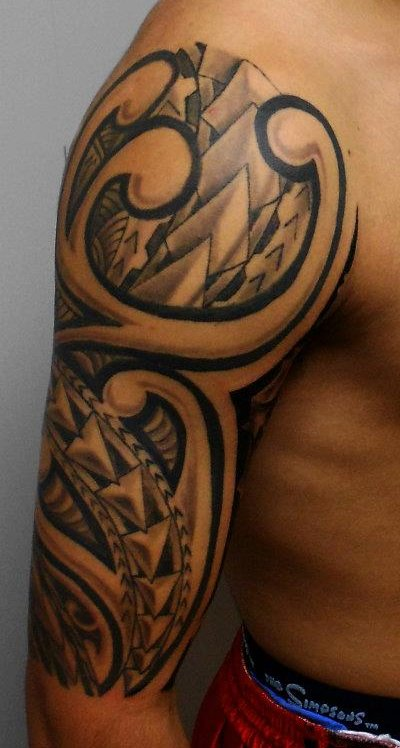 Tattoos for girls tribal tattoos for men shoulder and arm - Tatouage bras homme tribal ...