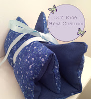 diy lavender rice heat cushion tutorial