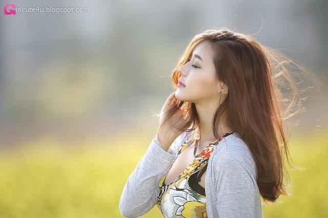 4 Kim Ha Yul Lovely Outdoor - very cute asian girl - girlcute4u.blogspot.com