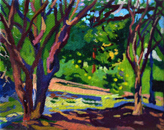 Landscape painting of trees in San Antonio