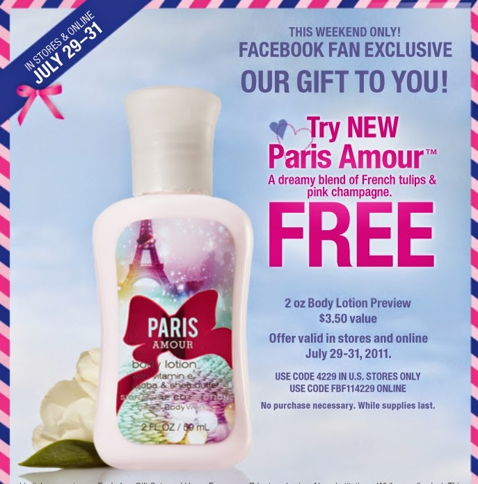 Free online printable coupons for bath and body works