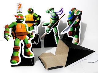 display com cone para guloseimas tartarugas ninjas