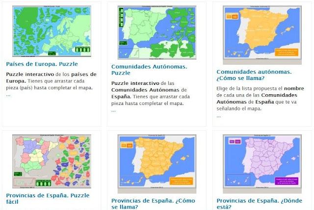 Worksheet. TIC TIRIRITIC CAON Mapas Interactivos de Espaa de Enrique Alonso