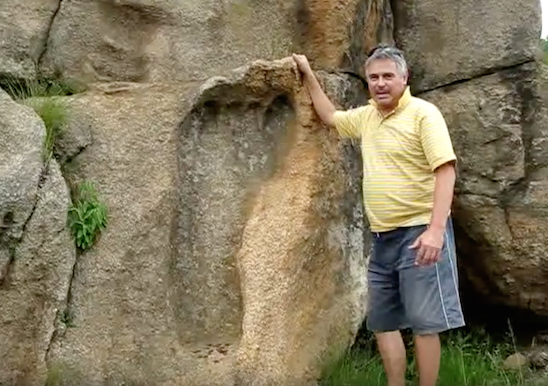Giant 200 Million Year Old Foot Print Found In Africa, UFO Sightings