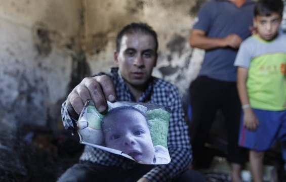 Judeus queimam bebê palestino