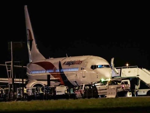 Pesawat MH192 mendarat cemas di KLIA Video Inside
