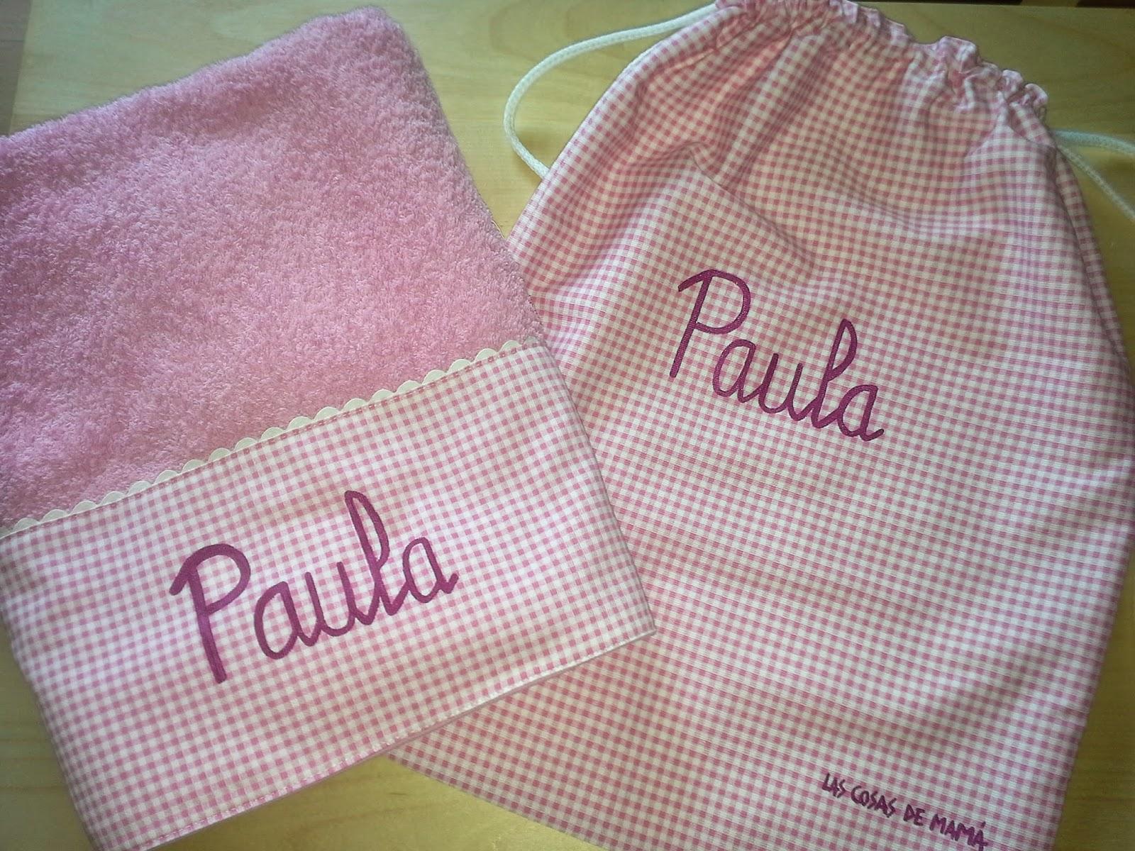 Las cosas de mam mochilas y toallas personalizadas - Toallas infantiles personalizadas ...
