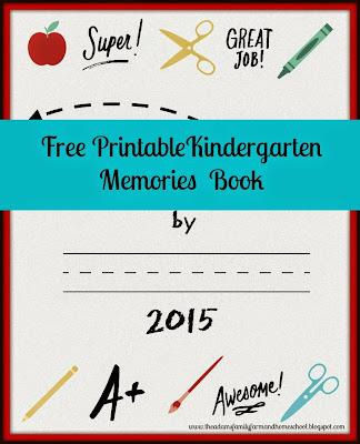 Printable Kindergarten Memories Book