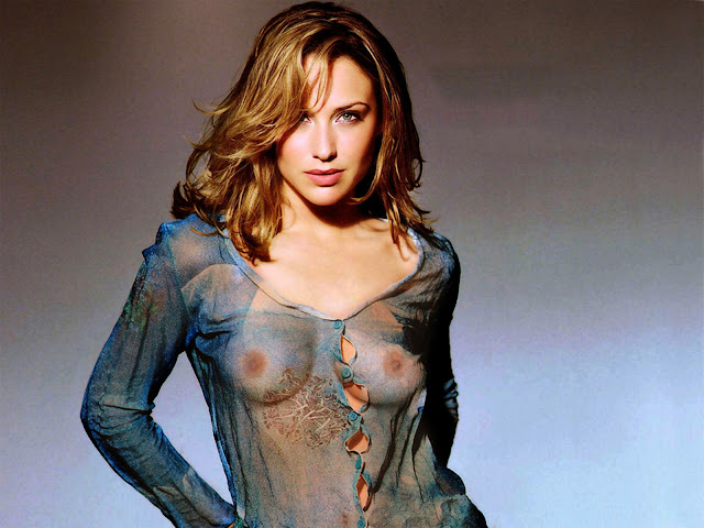 Claire Forlani nice breast in sexy see through blouse