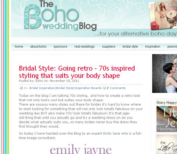 a guest blogger on the Boho Wedding Blog on Friday